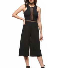 Dex Black Crochet Jumpsuit