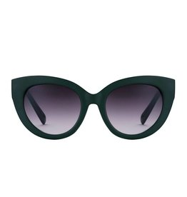 Perverse Sunglasses Forest Green Chunky Cat Eye Sunglasses
