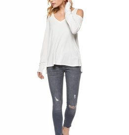 Dex Cold Shoulder Long Sleeve Tee