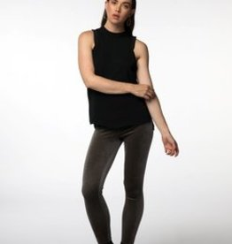 Standard by PPLA Black Woven Tank with Cap Sleeve Detail