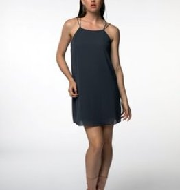 Standard by PPLA Charcoal Dress with Pleated Back Panel