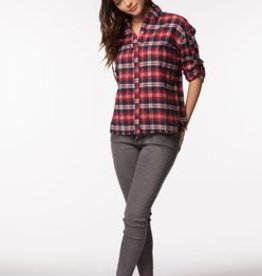 PPLA Red Plaid Button Down