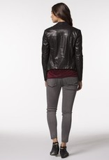 PPLA Black Suede Touch Biker Jacket