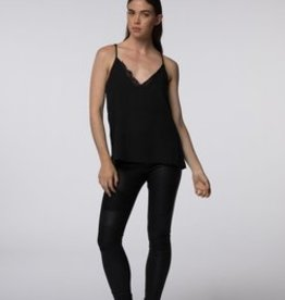 Standard by PPLA Black Tank w/ Lace Trim