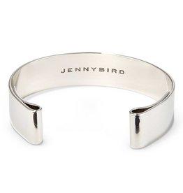 Jenny Bird Rhodium Dipped Brass Bangle