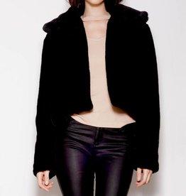 Pink Martini Black Faux Fur Jacket