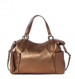 Aimee Kestenberg Chocolate Metallic Satchel