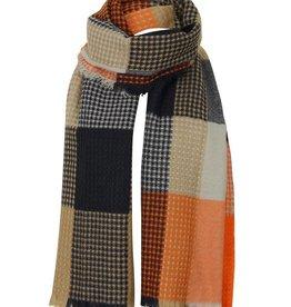 Lavand Multi Color Orange Blanket Plaid Scarf