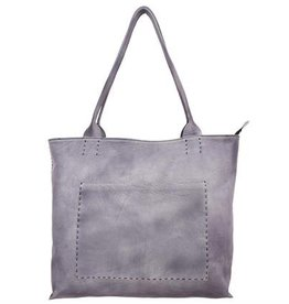 Latico Sonia Washed Black Leather Tote