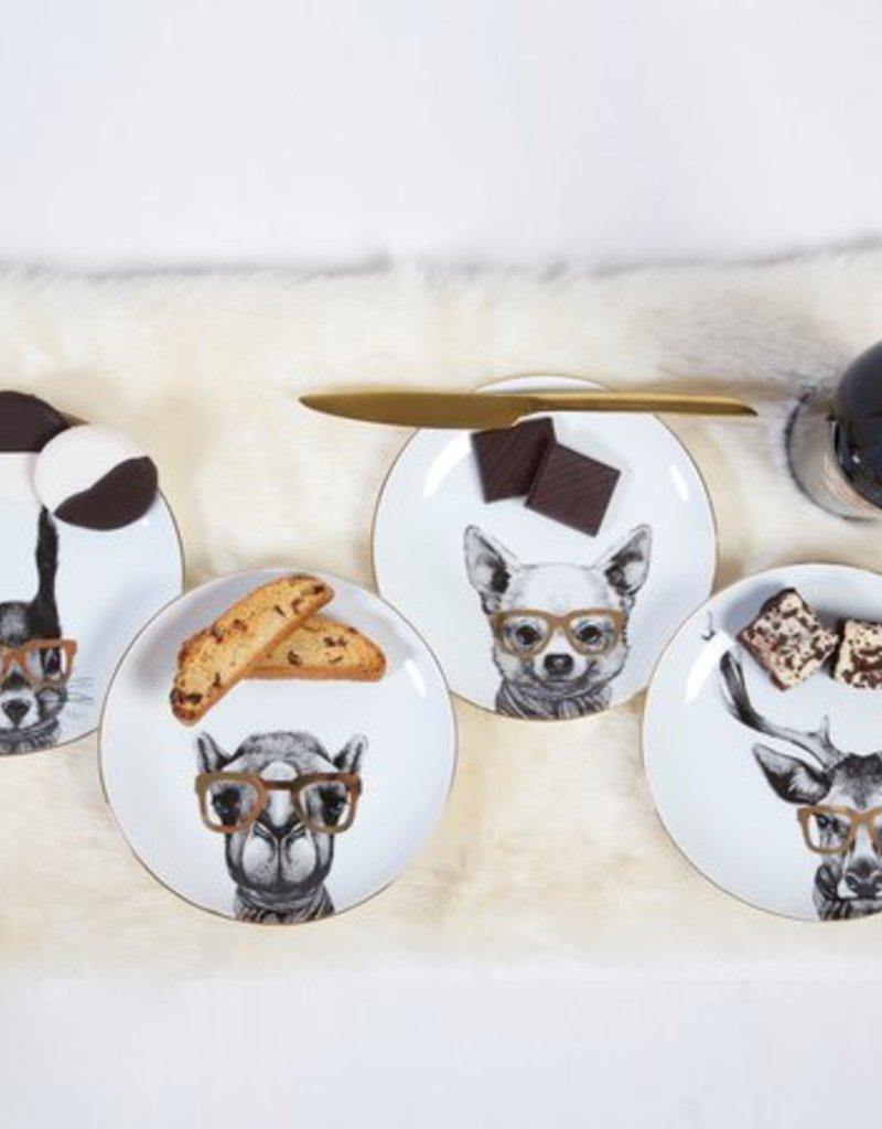 8 Oak Lane Critter Assortment Dessert Plate