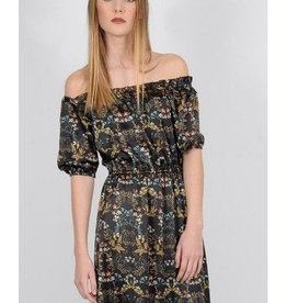 Molly Bracken Floral Off the Shoulder Long Dress