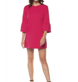 Dex Fuchsia 3/4 Bell Sleeve Dress