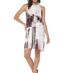 Dex Abstract Print Dress