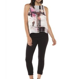 Dex Abstract Print Sleeveless Blouse