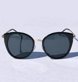 Perverse Sunglasses Glossy Black PC/Metal Oversized Frame Sunglasses