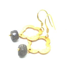 Erin Gray Labradorite and Clover Earring