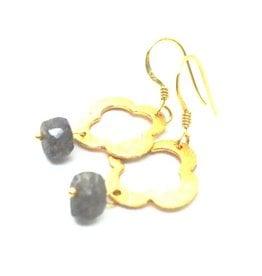 Erin Gray Labradorite and Clover Earring