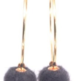 Erin Gray The Pom-Pom Hoop Earring