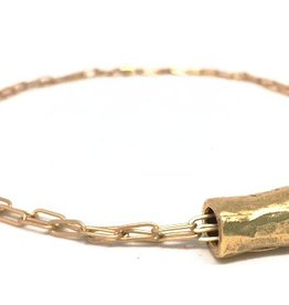 Erin Gray Golden Barrel Double Gold Chain Necklace