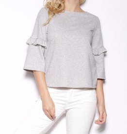 Pink Martini Grey Weather Sweater Top