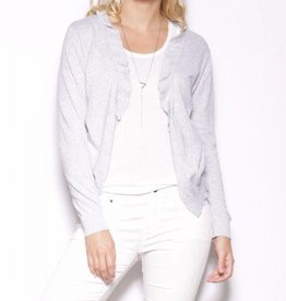 Pink Martini Grey Frills & Chills Light Cardigan