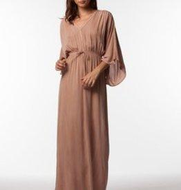 PPLA Nude Long Tie Waist Dress