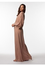 PPLA Nude Long Tie Waist Dress