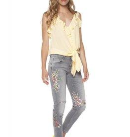 Dex Grey Floral Skinny Jean