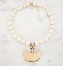 Stone + Stick Axe Statement Necklace