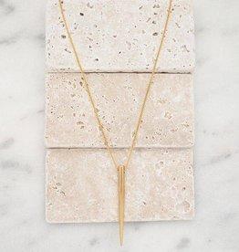 Stone + Stick Golden Spike Necklace