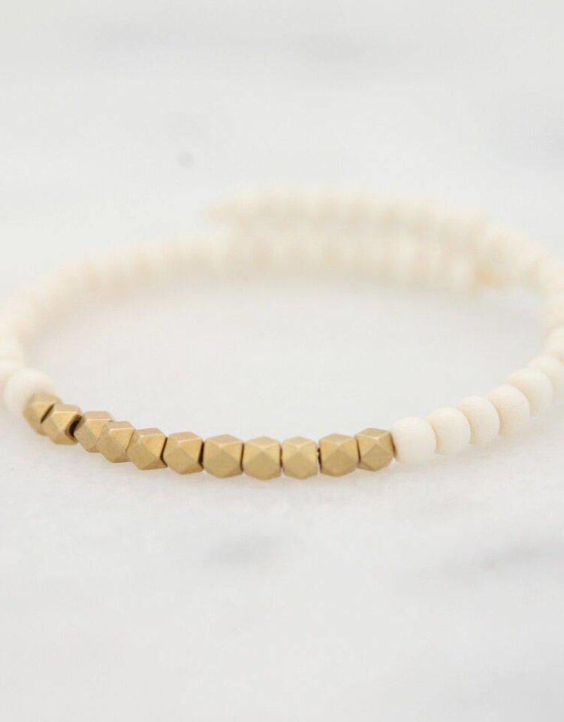 Stone + Stick Golden Row Wrap Bracelet