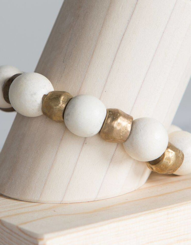 Stone + Stick Binary Stretch Bracelet