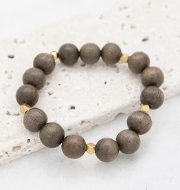 Stone + Stick Essentials 12mm Stretch Bead Bracelet
