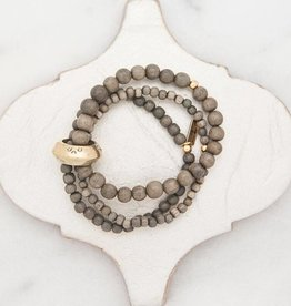 Stone + Stick Multi Strand Stretch Bracelet