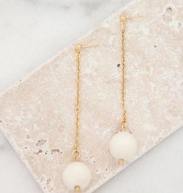 Stone + Stick Bubble Dangle Earrings