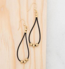 Stone + Stick Dot & Dash Leather Earring