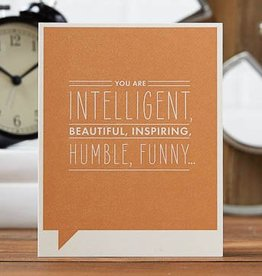 Compendium 'You are intelligent, beautiful, inspiring' Card