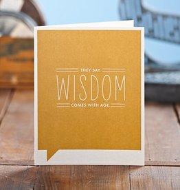 Compendium 'Wisdom Come's with Age' Card