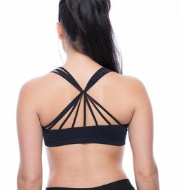 Seams Lovely Black Sunburst Bralette
