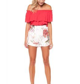 Dex Poppy Garden Print Short
