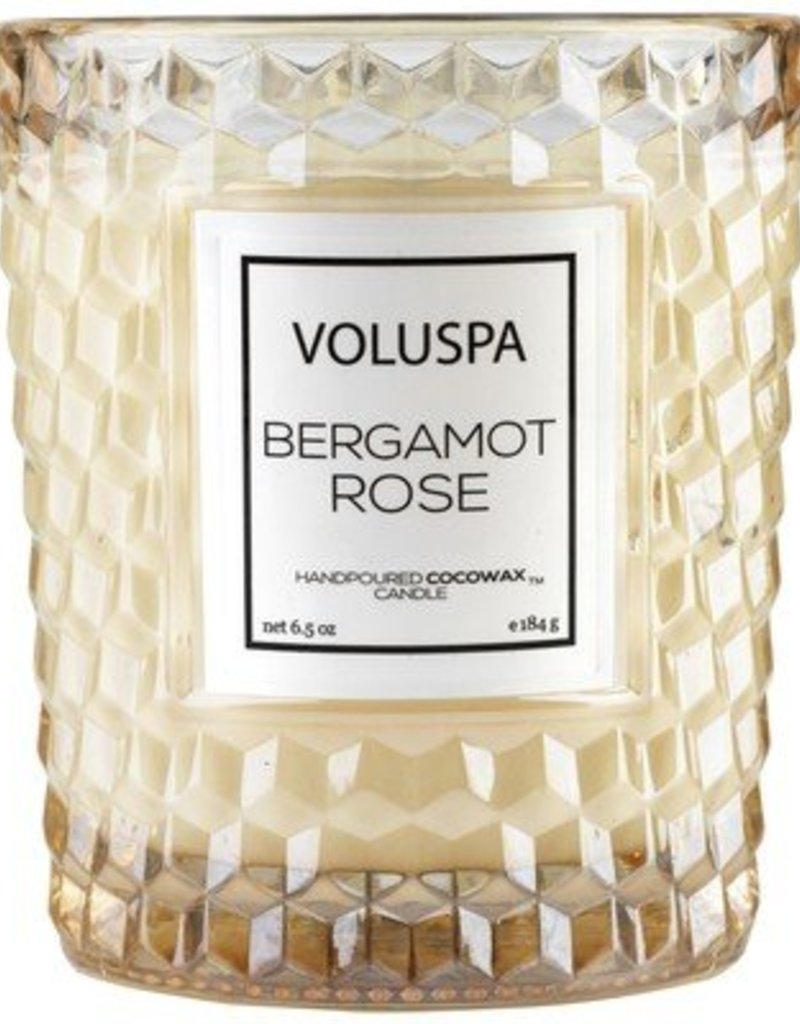 Voluspa Classic Candle in Textured Glass 6.5oz