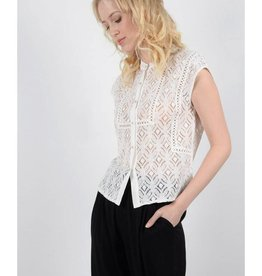 Molly Bracken White Lace Blouse