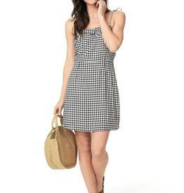 Cupcakes &Cashmere Gingham Dress w/Shoulder Ties