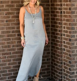 PPLA Cement Long Woven Maxi Dress