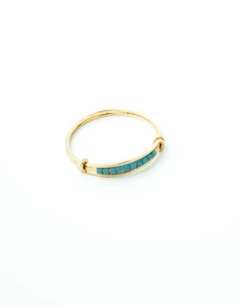 Sarah Briggs 14k Rimmed Stacking Ring