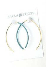 Sarah Briggs Beaded Wishbone Earring
