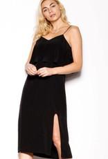 Pink Martini Black Midi Dress w/ Ruffle