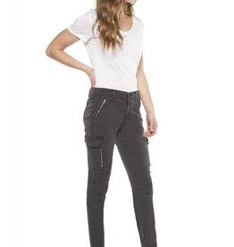 Dex Charcoal Skinny Cargo Pant