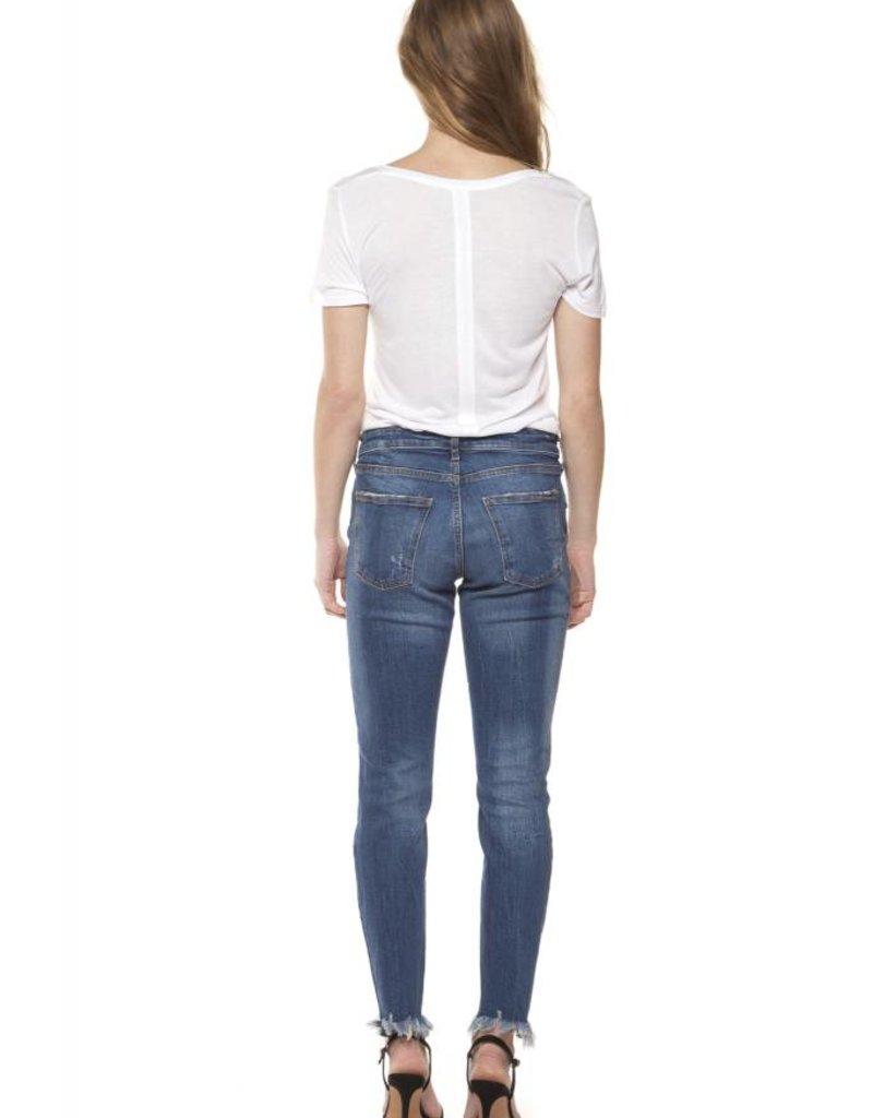 Dex Med Wash Skinny Jean w/Hem Fray