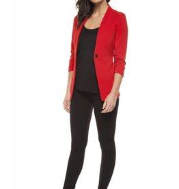 Dex Crimson One Button Blazer w/ Ruched Sleeve